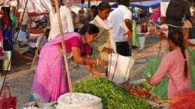 在Mandu,中央邦,印度的星期六市场 部族人民从每星期一次聚集这里 影视素材