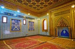 在Manial宫殿历史清真寺,开罗,埃及 免版税库存图片