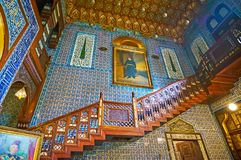 在Manial宫殿大厅,开罗,埃及 免版税库存图片