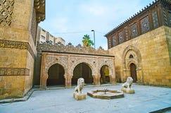 在Manial宫殿清真寺,开罗,埃及的喷泉 库存图片