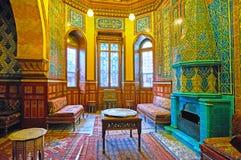 在Manial宫殿,开罗,埃及房间的老烟囱  库存照片