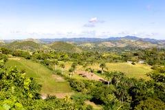 在Manicaragua,古巴附近的风景 图库摄影