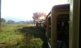 在maramures的蒸汽火车 免版税库存图片