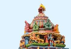 在Mariamman寺庙顶部的Ayyanar在Kothamargalam 免版税库存图片