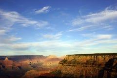 在Maricopa点附近,黄昏视图到科罗拉多河里 免版税库存照片