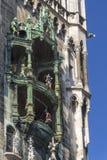 在Marienplatz,慕尼黑的铁琴, 2015年 图库摄影