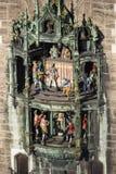 在Marienplatz,慕尼黑的铁琴, 2015年 免版税库存照片