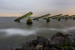 在Marken岸的破冰船  免版税库存照片