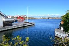 在Marstrand港口,瑞典 图库摄影