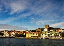 在marstrand Th海岛上的Marstand城堡  免版税库存图片