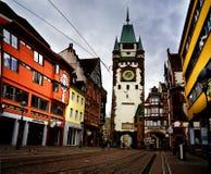 在Martinstor的看法,弗赖堡 免版税库存照片
