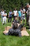 在Mas搏斗的非职业竞争在卡卢加州地区在俄罗斯 库存照片