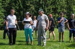 在Mas搏斗的非职业竞争在卡卢加州地区在俄罗斯 免版税库存图片
