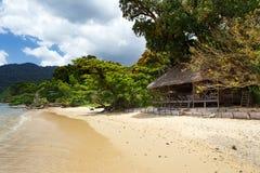 在Masoala森林储备,马达加斯加的海滩 免版税图库摄影