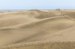 在Maspalomas的剧烈的沙丘大加那利岛的 免版税图库摄影