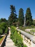 在Massandra宫殿公园雕刻要素在克里米亚 免版税库存照片