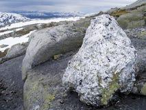 在masskardfjellet山峰附近 免版税图库摄影