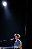 在Matadero de马德里的詹姆斯・布雷克音乐会 库存照片