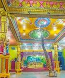 在Matale印度寺庙的树干  库存照片