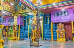 在Matale发现泰米尔人印度寺庙 图库摄影