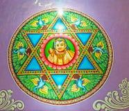 在Matale寺庙的Skanda扬特拉河 免版税库存图片