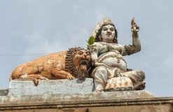 在Matale,斯里兰卡的皇家寺庙装饰 免版税库存图片