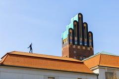 在Mathildenhoehe的婚礼塔在达姆施塔特,德国 免版税库存图片