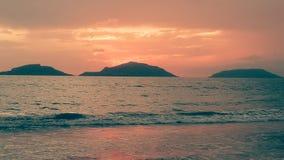 在Mazatlà ¡ n的美好的日落 免版税库存照片