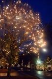 在McAdenville的圣诞节街道 库存图片