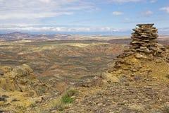 在McCullough的石标锐化荒地 库存照片