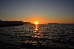 在mediterrean海的日落 库存图片