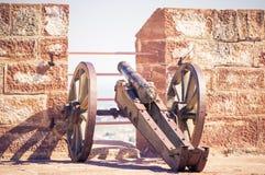 在Mehrangarh堡垒的老大炮在乔德普尔城,印度 库存图片