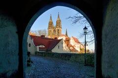 在Meissen的Albrechtsburg 萨克森-德国 免版税库存图片