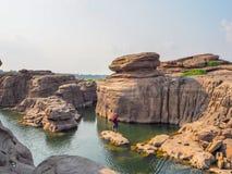 在mekhongriver,泰国的峡谷 免版税库存照片