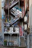 在Melbourne'的街道画; s Laneways 免版税库存照片
