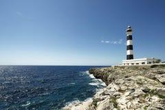 在menorca的灯塔 免版税库存图片