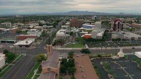 在Mesa亚利桑那st日落的鸟瞰图 股票视频