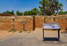 在Mesa Verde的太阳寺庙 库存图片