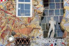 在Metelkova市的艺术Ljubliana的 图库摄影