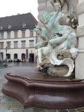 在Michaelerplatz的喷泉 库存图片