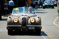 在Mille Miglia的捷豹汽车XK120 2016年 免版税库存照片