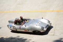 1956年在Mille Miglia的莲花十一 免版税图库摄影