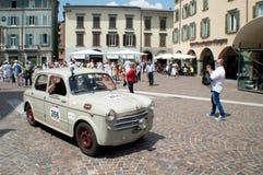 在Mille Miglia的菲亚特1100 2015年 库存照片