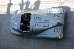 1947年在Mille Miglia的阿尔法・罗密欧6C 2500 SS蜘蛛Colli 免版税库存图片