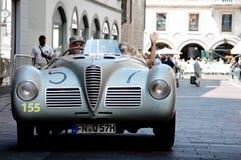 在Mille Miglia的阿尔法・罗密欧6C 2500 SS蜘蛛Colli 2016年 免版税库存照片