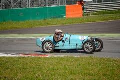 1925年在Mille Miglia的Bugatti类型35 免版税库存图片