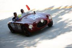 1952年在Mille Miglia的Ermini 1100体育 免版税库存图片