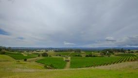 在Millfield和塞斯诺克在洪特尔谷,NSW,澳大利亚附近的看法 库存照片