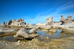 在Mingan的美好的风景在魁北克在加拿大 图库摄影