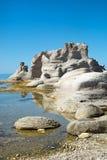 在Mingan的美好的风景在魁北克在加拿大 库存图片